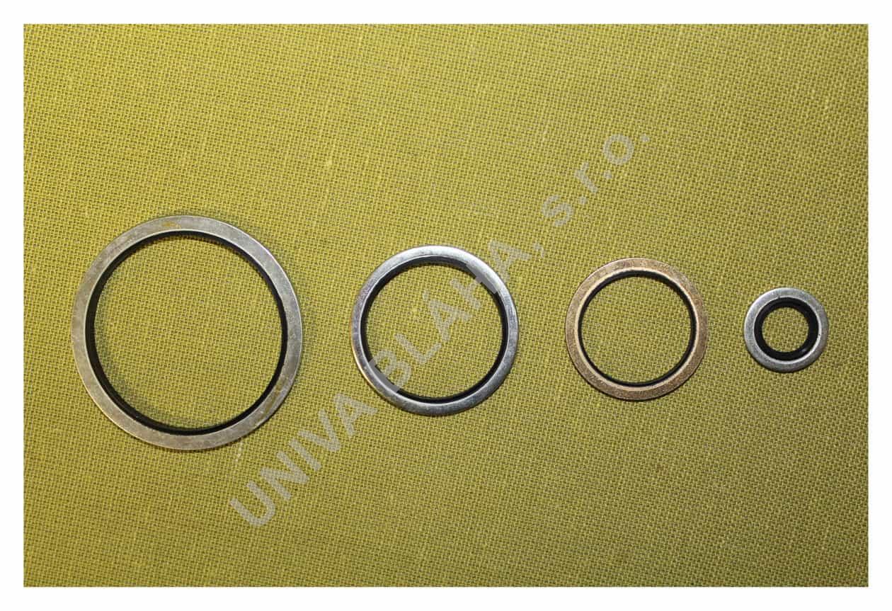 Ocelový kroužek s pryžovým těsněním UR